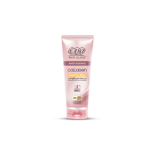 Collagen Facial Sunblock • Eva Cosmetics • Source Beauty Egypt